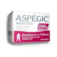 Aspegic Adultes 1000 Mg, Poudre Pour Solution Buvable En Sachet-dose 20 à ALBERTVILLE