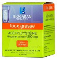 Acetylcysteine Biogaran Conseil 200 Mg Pdr Sol Buv En Sachet B/20 à ALBERTVILLE