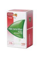 Nicorette 2 Mg Gomme à Mâcher Médicamenteuse Sans Sucre Fruits Plq/105 à ALBERTVILLE