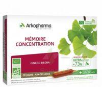 Arkofluide Bio Ultraextract Solution Buvable Mémoire Concentration 20 Ampoules/10ml à ALBERTVILLE