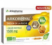 Arkoroyal Gelée Royale Bio Sans Sucre 1500mg Solution Buvable 20 Ampoules/10ml à ALBERTVILLE