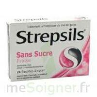 Strepsils Fraise Sans Sucre, Pastille édulcorée à L'isomalt, Au Maltitol Et à La Saccharine Sodique à ALBERTVILLE