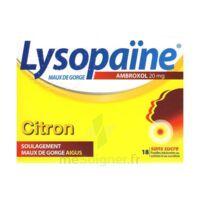 LysopaÏne Ambroxol 20 Mg Pastilles Maux De Gorge Sans Sucre Citron Plq/18 à ALBERTVILLE