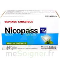 Nicopass 1,5 Mg Pastille Sans Sucre Menthe Fraîcheur Plq/96 à ALBERTVILLE