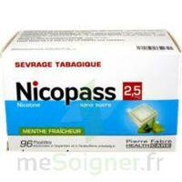 Nicopass 2,5 Mg Pastille Menthe Fraîcheur Sans Sucre Plq/96 à ALBERTVILLE