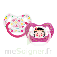 Dodie Duo Sucette Anatomique Silicone +18mois Girly à ALBERTVILLE