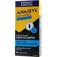 Apaisyl Anti-poux Xpress 15' Lotion Antipoux Et Lente 100ml+peigne à ALBERTVILLE